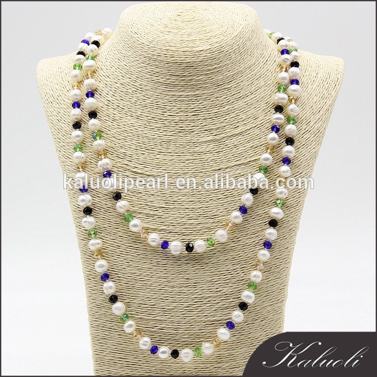 In bulk wholesale customized zhuji cheap real freshwater pearl necklace