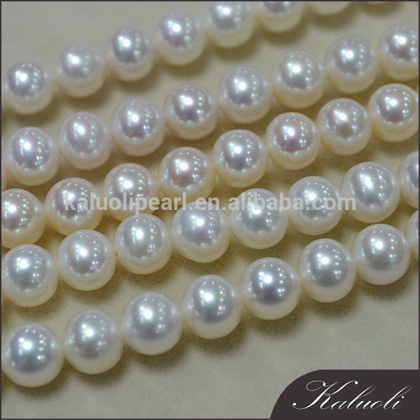 Zhuji sale 8-9mm bright full round 16 inch pearl string