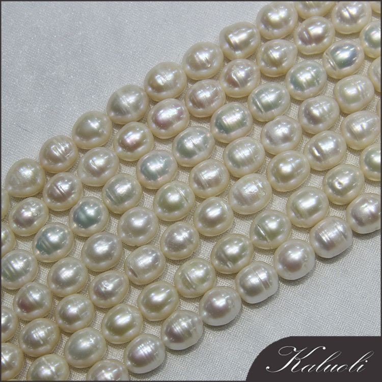 Wholesale 10-11 mm rice freshwater cultured loose natural pearl for making jewelry