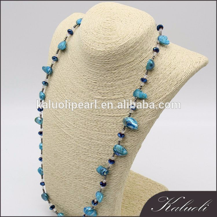 Wholesale price rhinestone crystal long pearl necklace