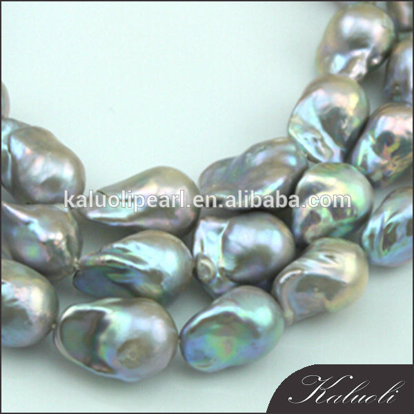 Sale natural big baroque freshwater pearl necklace strand
