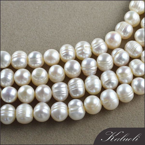 Wholesale chinese 8-9mm white potato natural pearl necklace for decoration