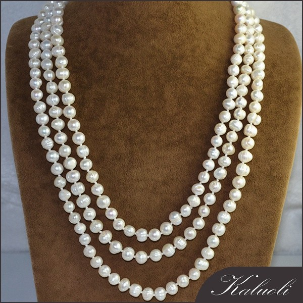 Wholesale cheap 8-9 freshwater long pearl necklace