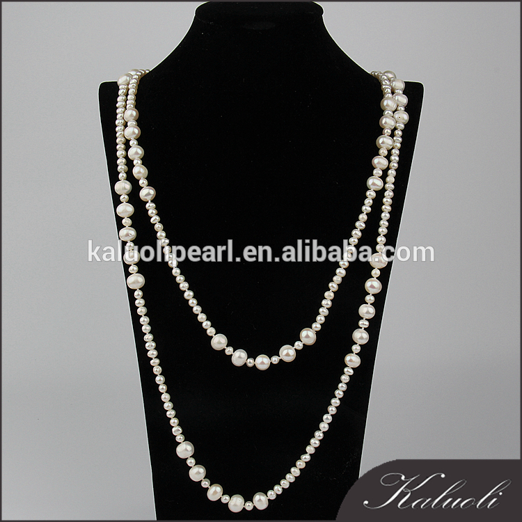 Wholesale traditional mix color potato long cultured real pearl chain