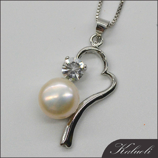 Chic 10-11mm freshwater pearl jewelry mounting pendant setting
