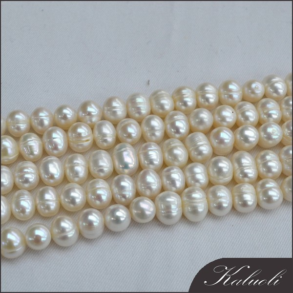 Wholesale 9-10mm potato cheap freshwater pearl strand