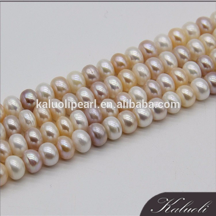 9-10 mm AAA button round multi color pearl wholesale
