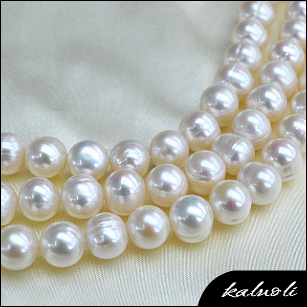 10-11mm potato freshwater pearl strand for pearl buyer