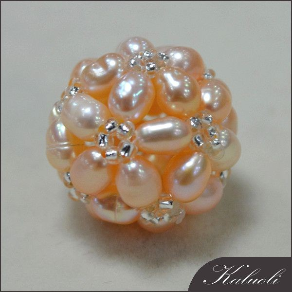 Freshwater seed pearl handcraft decorative ball jewelry