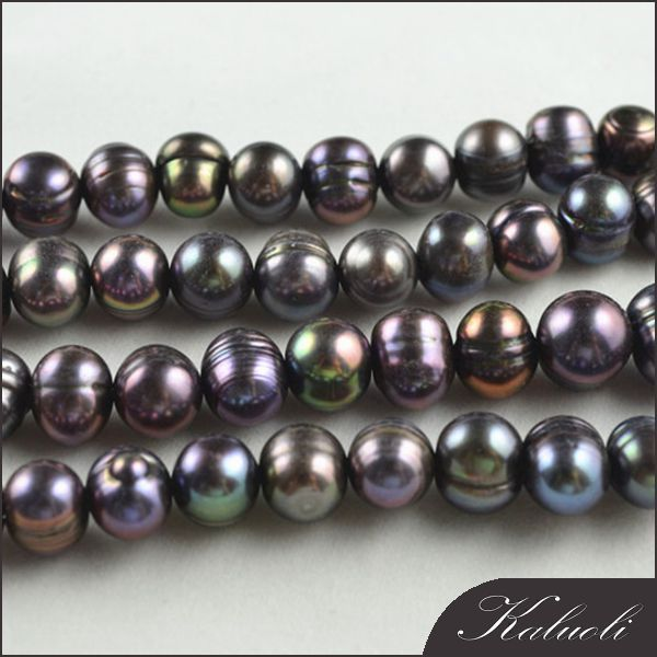 Peacock potato shape genuine freshwater pearl wholesale zhuji