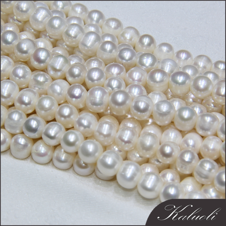 Normal 9-10mm potato natural freshwater pearls zhuji china