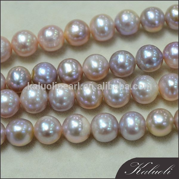 Lavender 7-8mm near round freshwater natural pearl sale