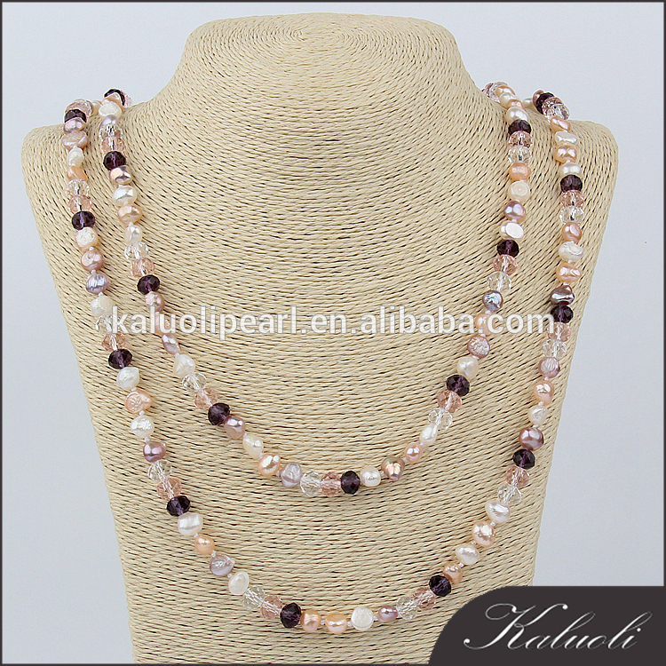 Wholesale customized long baroque freshwater pearl necklace