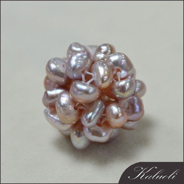 Handmade decorative ball lavender natural color pearl
