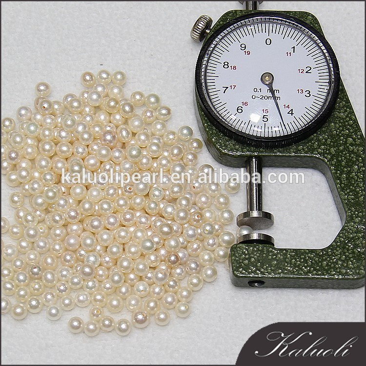 Jewelry mini pearls 4mm round no hole pearls for sale