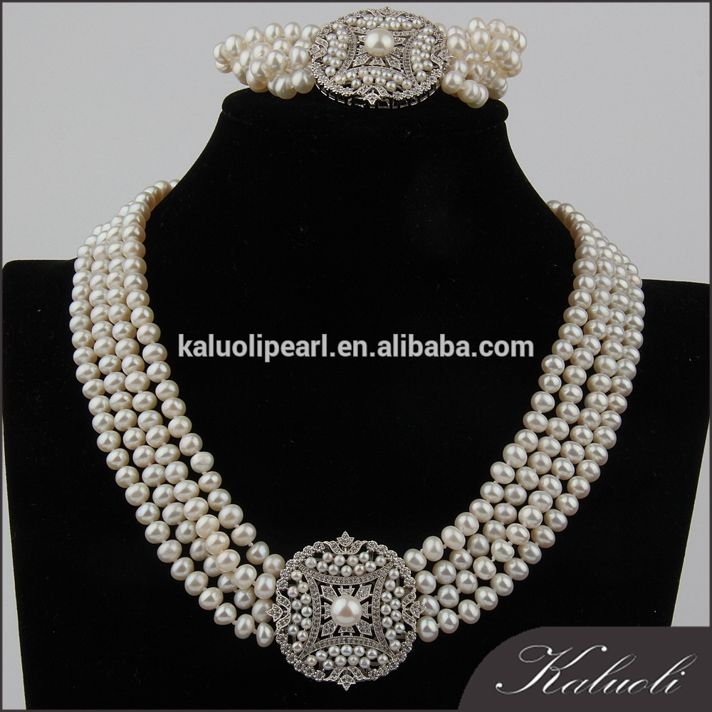 Famous jewelry designers of freshwater real original pearl sets