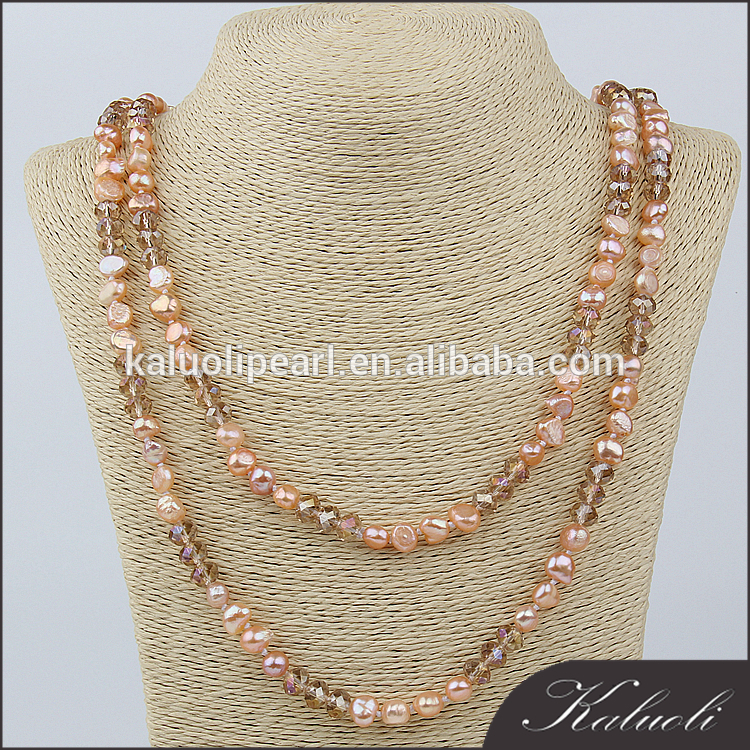 Wholesale cheap 7-8 mm baroque irregular shape pearl necklace in bulk