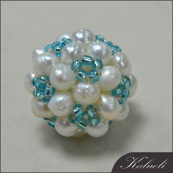 Handmade decorative real pearl ball accessories women 2016