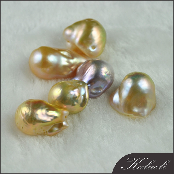 Sale nature colour fresh water baroque 14mm loose pearl