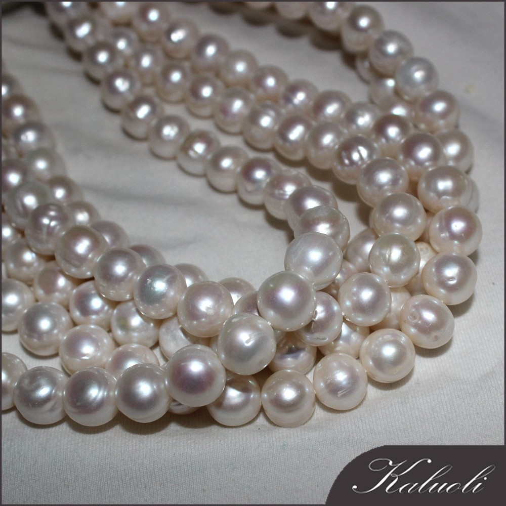 10-11mm A potato freshwater pearl natural strand for making jewellery