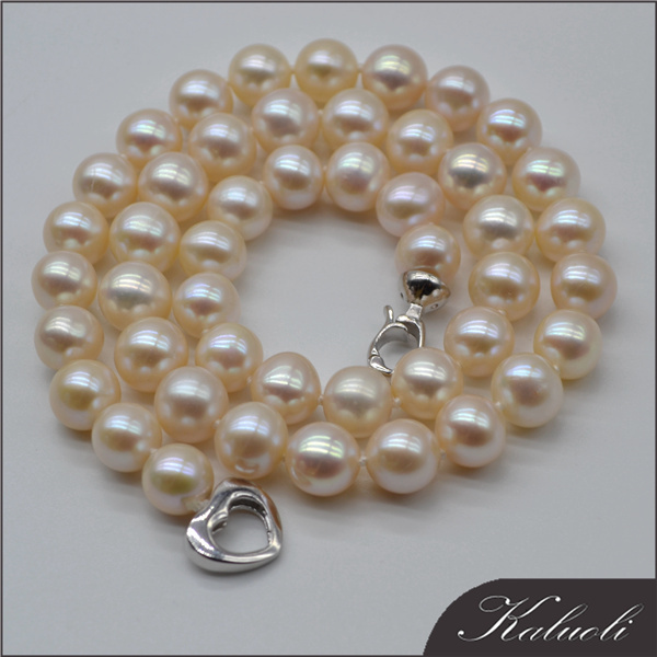 Wholesale high quality 10-11mm pearl necklace expensive jewelry