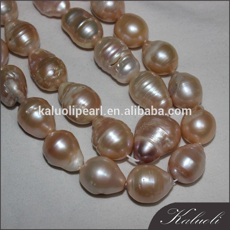 15-18 mm large size A nucleated shape irregular freshwater pearl