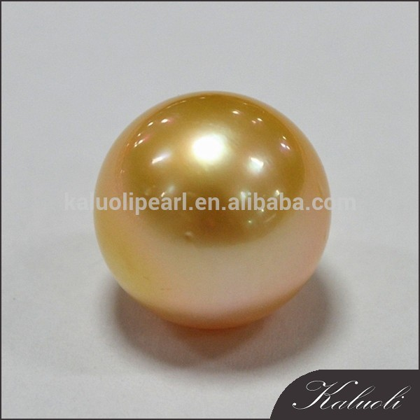 Wholesale 12-13mm perfect round golden south pearl price