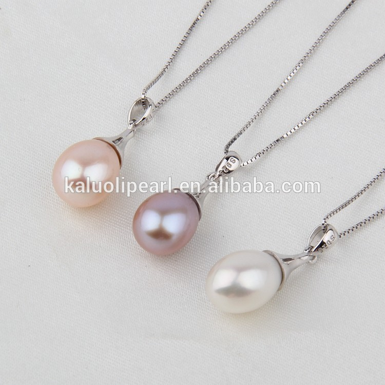 Drop freshwater pearl necklace design women's traditional jewellery