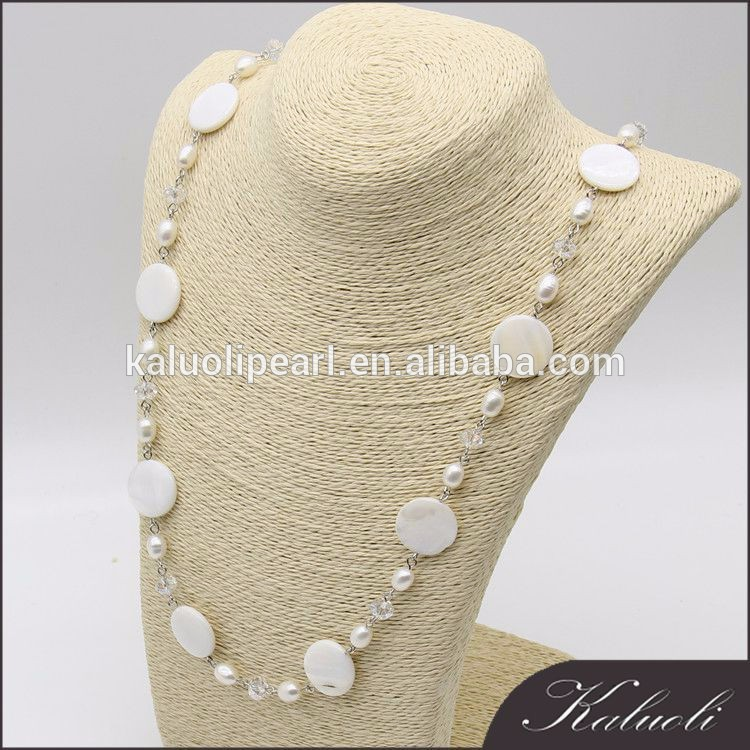 80 cm long beautiful puka shell necklace as gifts
