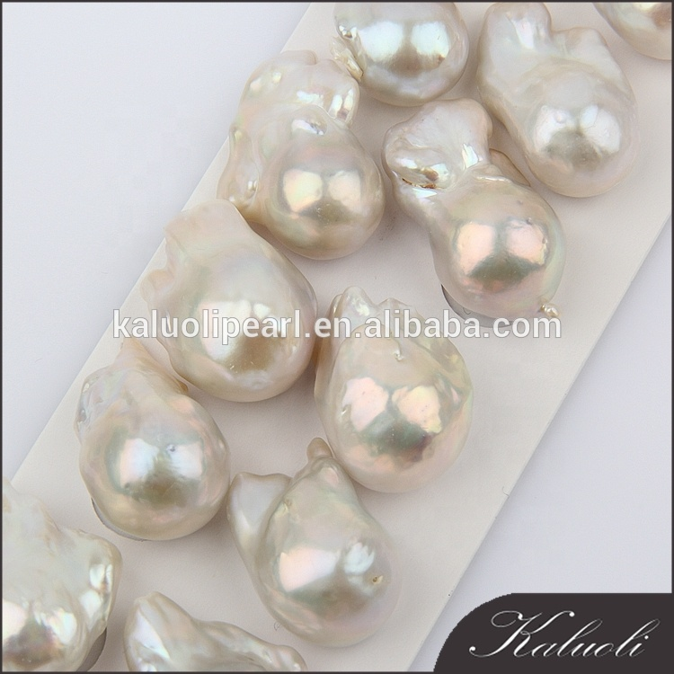 15-18mm nice nucleated cultured freshwater large baroque pearls