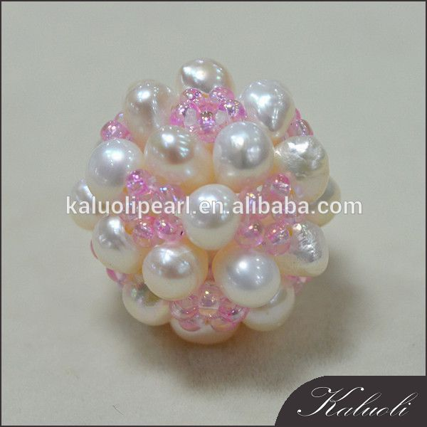 Wholesale snow cotton handmade pearl ball decoration