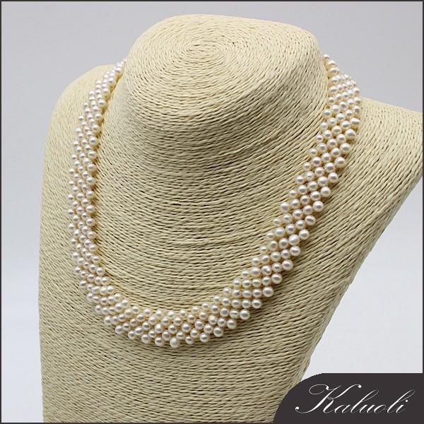 vogue jewelry wedding necklace design freshwater pearl necklace