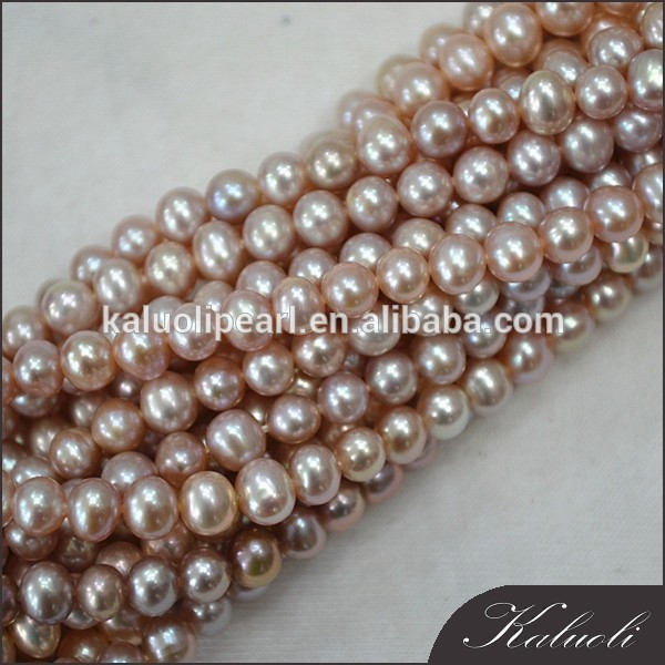 5-6 mm potato AA good quality purple pearl natural string
