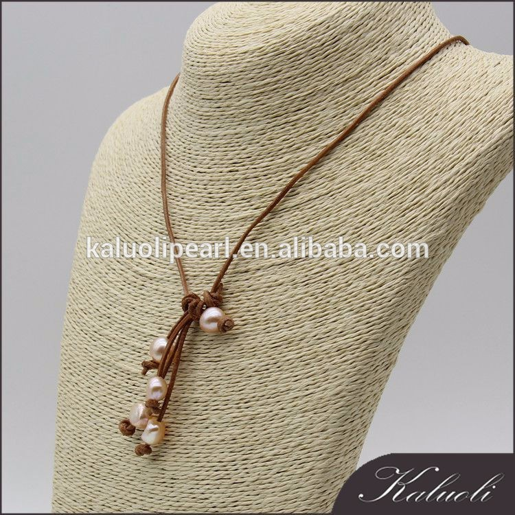 Charming luxury genuine make adjustable leather necklace