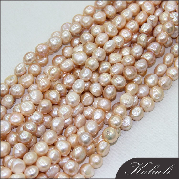 China pearl factory with 13-15mm good luster cultured freshwater pearl strand