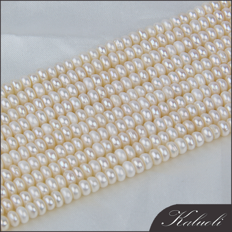 Nice luster 5-6 mm white freshwater half cut pearls