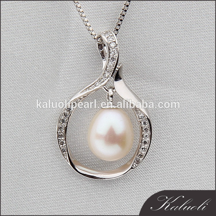 9-10 mm AAA best quality drop real pearl s925 pendant for promotion