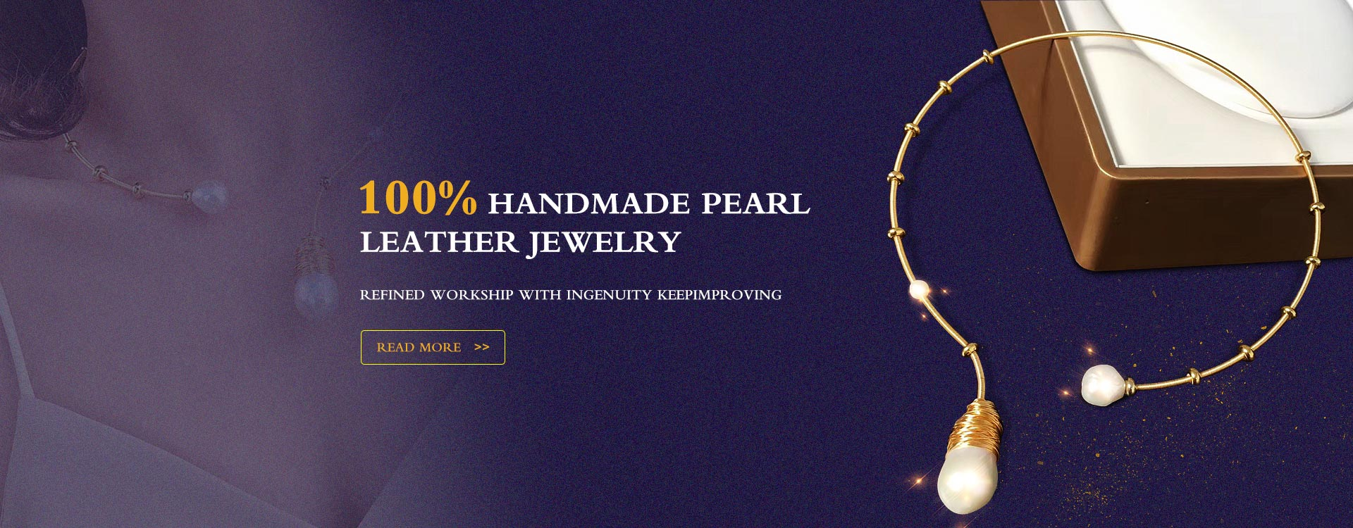 handmade pearl  leather jewelry