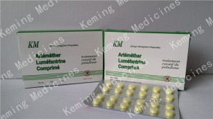 Artemether + lumefantrine ផ្ទាំង