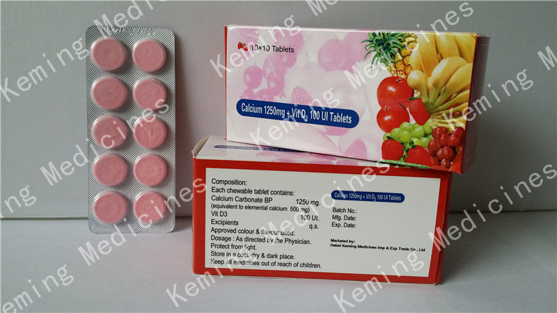 Excellent quality Vitamin Injection - Calcium and Vitamin D3 tablets – KeMing Medicines