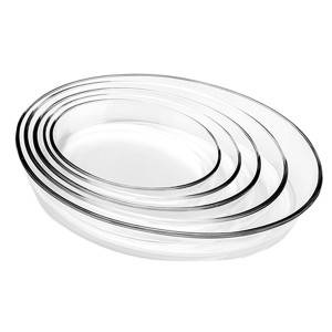 4L-0.7L Oval Glass bakeware