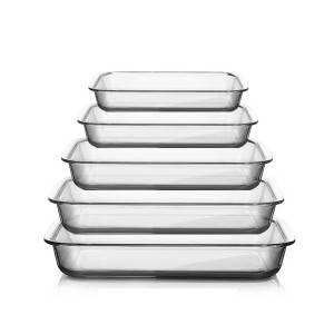 3L/2.4L/2.2L/1.8L/1.6L Rectangular Glass bakeware