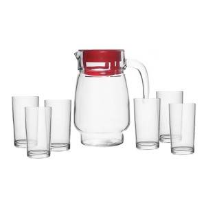 Good Quality Promotion Glass - 1.3L Glass Jug With 6pcs 8oz Glass Cup – Kotto
