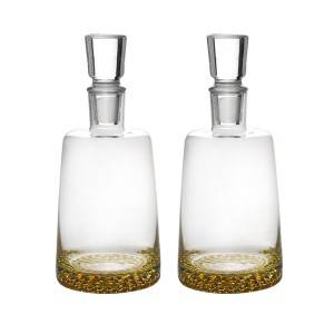1000ml clear glass whiskey bottle