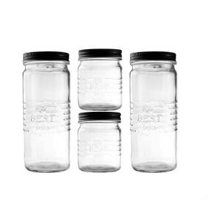 High Quality Kitchen Glassware - 2PC1100ml+2PC450ml glass storage – Kotto