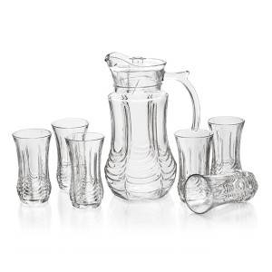 Chinese wholesale Mason Jar Tumblr - 1pc glass jug and 6pcs glass cup set – Kotto