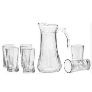 High Quality Bath Foam Jar - 1pc glass jug and 6pcs glass cup set – Kotto