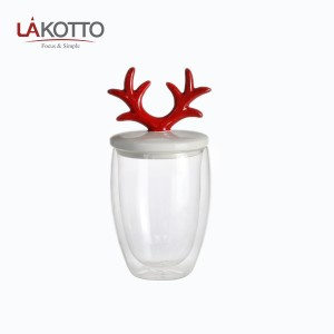 High Quality Liquor Promotion – Christmas gifts Antlers double glasses, coffee cups – Kotto