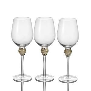 red & white wine glass goblet with Jewelry