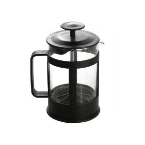 850ml glass coffee ,tea jug with plastic shell